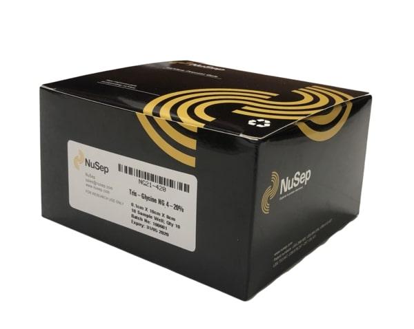 nUView Tris-Glycine Precast Gel Box for most generic gel tanks